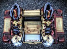 "Nike LeBron X ""Ironman 3″ Customs for LeBron James by Mache"