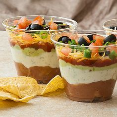 Taco shooters... serve with chips