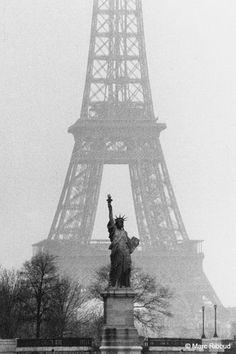 France. Eiffel Tower, Paris, 1964 // by Marc Riboud                                                                                                                                                                                 More                                                                                                                                                                                 More