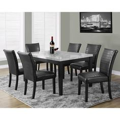 Black Leather Look 38-inch Parsons Chair (Set of 2) - Overstock™ Shopping - Great Deals on Dining Chairs