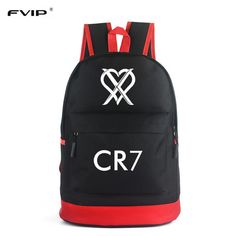 cd3a69be2762 FVIP CR7 Backpack School Bags for Teenagers Boys Bagpack Men Ronaldo  Fashion Bookbags for Children Cool Traveling Schoolbags