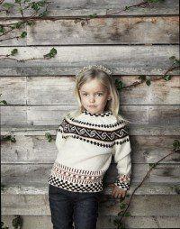 Nordlandskofte-genser Hula, Baby Pullover, Knitting For Kids, Turtle Neck, Sweaters, Fashion, Hemline, Paper, Modern Crochet