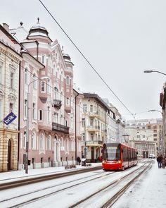 First snow ❄️ on Sturova Street Phot First Snow, Bratislava, Street Photo, Street View, Europe, Sweet, Instagram, Candy