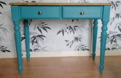 Lovely sidetable end table console table painted furniture table with drawers