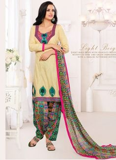 Offering wide range of Salwar Kameez Online Shopping with finest quality fabrics and stitching. Shop from our latest collection of online salwar suits, Buy Ethnic suit Online, The best online salwar kameez shopping store in India with safe shopping e Salwar Kameez Online Shopping, Salwar Suits Online, Patiala Salwar Suits, Indian Salwar Kameez, Patiyala Suit, Ethnic Suit, Churidar Designs, Indian Ethnic, Light Beige