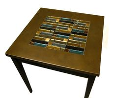 Glass Tile Table  Side table with glass tile inlay by slgeorge, $239.00-pretty colour combo
