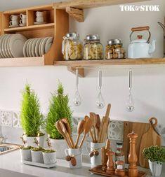 Kitchen Decoration - Top 20 Light Home Decor Gallery Home Decor Kitchen, Diy Kitchen, Home Kitchens, Kitchen Dining, Kitchen Tools, Room Interior, Interior Design Living Room, Küchen Design, Shelf Design