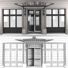 Architcture Facade – free 3D model ready for CG projects. Available formats: OBJ (.obj), Autodesk FBX (.fbx), 3D Studio Max (.max)