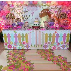 mesa envelopada festa - festa jardim