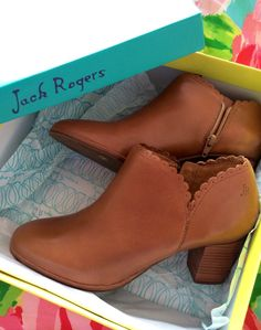 Jack Rogers  very excited about these new scallop edge booties! ""