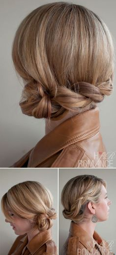 Low Dutch Twisted Braid Updo