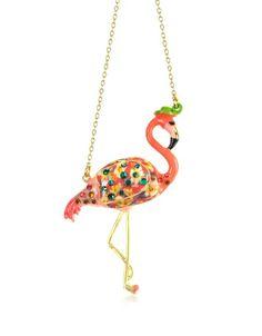 flamingo necklace.