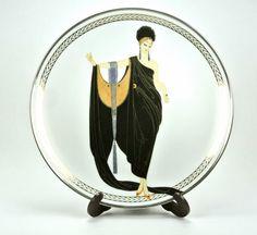 Glamour House of Erté The Franklin Mint Fine Porcelain Decorative Plate Sevenarts LTD HB2532