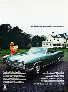 1968 Buick LeSabre 4-Door Hardtop - My car. I actually have an old ad similar to this that came with my LeSabre.