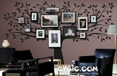 Family Tree Wall Decal with Picture Frames – evgie