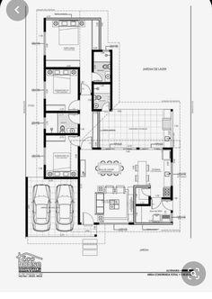 Little House Plans, Small Modern House Plans, Modern Small House Design, Pool House Plans, Small House Floor Plans, Contemporary House Plans, House Front Design, Best House Plans, L Shaped House Plans