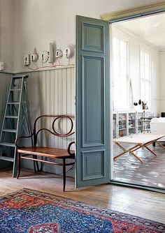 Swedish Schoolhouse Turned Home #interior