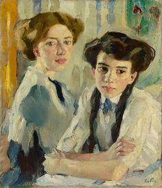 Leo Putz, Blond and brunette, c. 1913