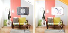 ilustração personalizada, casal desenhado, sala, decoração para sala, decoração com quadros, presente criativo, decoração criativa, antes e depois decoração, porter
