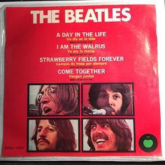 Beatles - Compact 33 - A Day Life - I Am The Walrus b/w Strawberry Fields Forever - Come Together - Apple #10457 - Rock n Roll