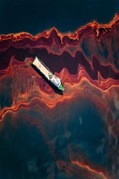 "Daniel Beltrá, Oil Spill #12, 2010, 60"" X 40"" (Ed. 8) at Catherine Edelman"