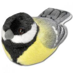 Wild Republic 19485 13 - 16 cm Great Tit with Real Bird Calls Plush Toy Happy Penguin, Downy Woodpecker, Black Capped Chickadee, Bird Calls, Audubon Birds, Great Tit, Peregrine Falcon, Red Tailed Hawk, Owl Pet