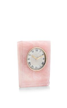 Vintage Cartier Desk Clock by peter Byworth - Moda Operandi Table Watch, Vintage Lettering, Desk Clock, Auction Items, Everything Pink, Close To My Heart, Cartier, Offices, Gold Watch