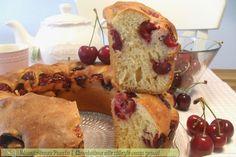 Ciambellone alle ciliegie senza grassi, ricetta senza olio o burro, Mangia senza Pancia