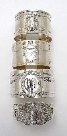 """Repinned this and quote is true but dedicating to Robin and to Leah-- Leah can't wait to start using the ones Robin gave her and Carlyle ! """"Beautiful silver napkin rings -- love to collect them and use them when entertaining. They always spark a conversation."""""""