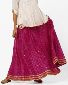 1d2135f0e Buy Pink Skirts & Ghagras for Women by Ethnicity Online | Ajio.com