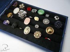 5fdd652a0ff3c Como hacer un joyero organizador-expositor de anillos paso a paso Diy  Jewelry