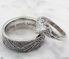 Vintage Gold Engagement Rings, Black Diamond Engagement, Nature Engagement Rings, Nerd Engagement Ring, Celtic Engagement Rings, Curved Wedding Band, Diamond Wedding Bands, Tiffany Wedding Rings, Bridal Rings
