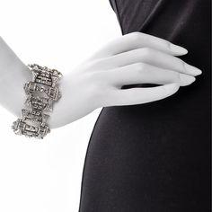 Square Art Deco Swarovski crystal bracelet - BACK BY POPULAR DEMAND