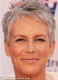 Jamie Lee Curtis Haircut Front and Back View | Jamie Lee Curtis Haircut Front…