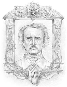 (Art: Joe Menna) -- Edgar Allan Poe: a digital illustration for The Masque of the Red Death, scheduled for inclusion in the new A1 anthology.