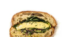 Frittata Sandwich with Olive Salad Recipe | Bon Appetit
