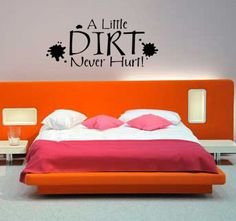 A Little Dirt Never Hurt  Boys Mud Bedroom vinyl wall lettering home decor children kids nursery decal sticker on Etsy, $9.99