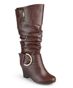 Look at this Journee Collection Brown Meme Boot on #zulily today!
