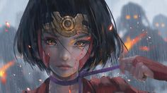 Download Mumei Kabaneri Anime Wallpaper by Wlop 3840x2160