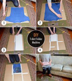 Create your own DIY T-shirt Folder Machine and make folding fun and never been easier. #DIY #Folder #Machine