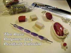 Here's the Rose pendant tutorial using Premo polymer clay...Thanks for watching! http://lynzcraftz.blogspot.com http://www.etsy.com/shop/LynzCraftz http://ww...