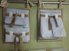 Porta fraldas feito em tecido 100% algodão <br> <br>Podemos confeccionar o trocador, protetor de Moisés, roupa de cama e almofadas combinando com o porta fraldas