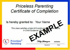 Learn calm, confident parenting - 8 hour online court ordered parenting classes (with certificate of completion) - Ages 5 and under,