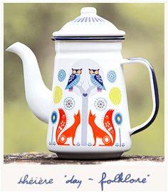 * Day - Folklore teapot - Bird on the Wire. Théière renard oiseau