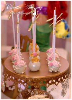 Amazing cake pops at a pink princess birthday party! See more party ideas at CatchMyParty.com!