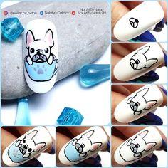 Cartoon Nail Designs, Nail Art Designs Videos, Cute Nail Art Designs, Nail Art Hacks, Easy Nail Art, Diy Nails, Cute Nails, Nail Art French, Mickey Nails