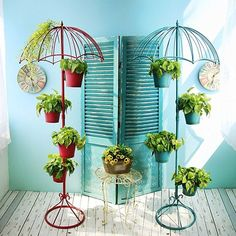 Cheap flower iron stands, Buy Quality stand flowers directly from China stand umbrella Suppliers: American Iron Multilayer Umbrella Flower Stand Home Living Room Balcony Flower Shop Creative Floor Decoration Plant Flower Stand House Plants Decor, Plant Decor, Garden Deco, Garden Art, Hanging Planters, Garden Planters, Planter Pots, Balcony Flowers, Decoration Plante