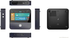 ZTE Spro 2: A pico-projector/LTE hotspot with Android 4.4 and on board screen, Snapdragon 800 chipset, 720p output with 200 lumens brightness, HDMI in, Bluetooth, and 4G connectivity with hotspot functionality.