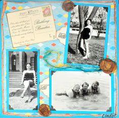 Heritage or vintage. Travel Scrapbook, Scrapbook Layouts, Scrapbook Pages, Bathing Beauties, New Beginnings, Scrapbooks, Light Blue, Printables, Album