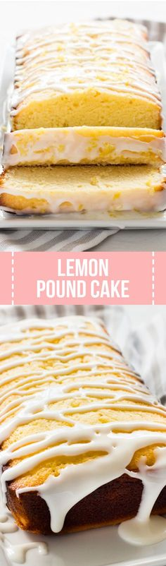 Glazed lemon pound cake is tender, sweet and full of lemon flavor. It's a delicious dessert to try for Mother's Day, Easter or any spring celebration!